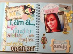 Mrs Crafty Adams: All About Me SMASH book: Introduction and Words ...