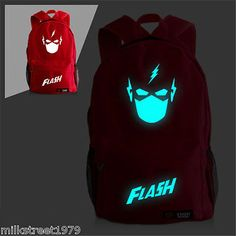 The Flash Face Canvas Backpack  School Bag (Multiple-Color)