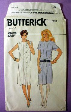 Women's Shift Dress Sewing Pattern Sleeveless or Short