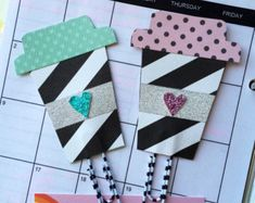Check out our planner accessories selection for the very best in unique or custom, handmade pieces from our shops. Diy Paper, Paper Crafts, Paperclip Crafts, Happy Planner, Planner Diy, Planner Ideas, Paper Clip Art, Cute Office Supplies, Diy Bookmarks