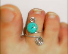 turquoise toe ring adjustable