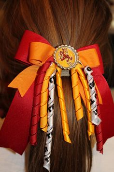 Sports team hair bow with Korkers and by AdorableYouBowtique, $5.50