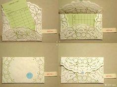 doily as envelope!
