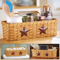 Country Star Woven Basket