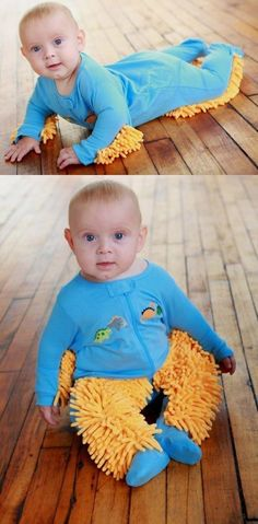 This onesie that turns your baby into a mop. | 29 Things That Will Basically Clean For You