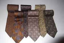 Georgio Armani Tie Lot Silk Neck Ties White Label Italy Art Deco Retro Lot 6
