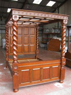 FOUR POSTER BED - TUDOR STYLE 4 POSTER BED - SUPER KING SIZE FOUR POSTER BED - | eBay