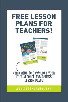 Lesson Plans and Videos - Ask, Listen, Learn Teacher Lesson Plans, Free Lesson Plans, Presentation Rubric, Alcohol Awareness, Health Teacher, Middle School Teachers, Interactive Activities, School Counselor, Science Classroom