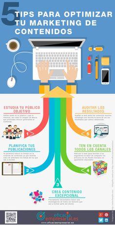 5 consejos para optimizar tu Marketing de Contenidos #infografia #marketing
