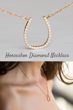This is a unique Diamond horse necklace, a beautiful solid gold 14K/18K horseshoe necklace, the perfect dainty Diamond charm necklace. Horse Necklace, Horseshoe Necklace, Charm Diamond Necklace, Unique Diamond Necklace, Solid Gold Charm, 14K Horseshoe Necklace, 18K #diamondnecklaces #rimonjewelry Horseshoe Necklace, Horse Necklace, Charm Diamond, Diamond Jewelry, Boho Wedding, Rustic Wedding, Wedding Ideas, Cool Wedding Rings, Wedding Bands