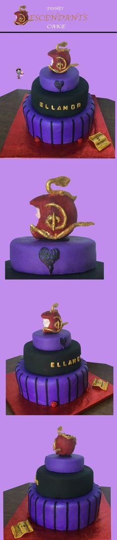 Disney Descendants Cake made for Icing Smiles by Karen Williams