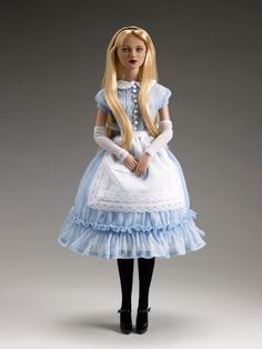 """Alice in wonderland from the tonner doll line"""" re imagination """" a lightly twisted take on fairytale characters."""