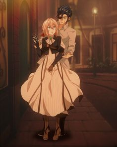 Violet Evergarden and Gilbert Bougainvillea Anime Shojo, Sad Anime, Kawaii Anime, Anime Guys, Manga Anime, Bougainvillea, Violet Evergarden Gilbert, Violet Evergarden Wallpaper, Violet Evergreen
