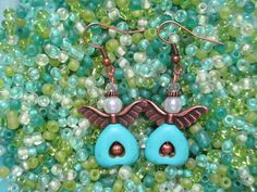 Southwestern Turquoise Pearl & Copper Beaded by ItsaColorfulLife, $10.00