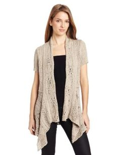 Woolrich Women's Cable Hollow Cardigan, Dark Stone, Small Woolrich. $79.00