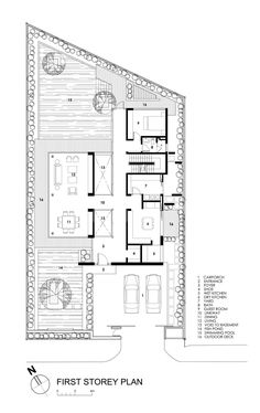 Image 21 of 22 from gallery of Travertine Dream House / Wallflower Architecture + Design. first floor plan