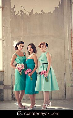 #Turquoise #Wedding #Bridesmaids