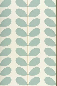 This is a classic and immediately recognisable leaf design by well-know Irish designer Orla Kiely. A wallpaper that is incredibly versatile and can. Textures Patterns, Color Patterns, Print Patterns, Paper Patterns, Retro Wallpaper, Pattern Wallpaper, Turquoise Wallpaper, Harlequin Wallpaper, Vintage Wallpapers