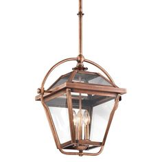 View the Kichler 42909 Ryegate 3-Bulb Indoor Pendant with Lantern-Style Glass Shade at LightingDirect.com.