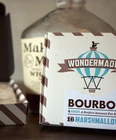 Manly marshmallows infused with Makers Mark bourbon