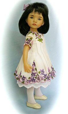 HAND SEWN HANKY DRESS Violets DIANNA EFFNER LITTLE DARLING Zoe