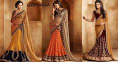 #Lehenga #Saree! Last but not the least are the designer lehenga sarees that combine the features of both the lehenga and the saree is one outfit.