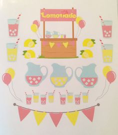 Lemonade Stand for your planner or just for fun. by VintageGypsyRoad on Etsy https://www.etsy.com/transaction/1047130563