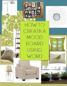 Home Made Modern How To Make A Storyboard Or Mood Board Using Word