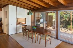 The redwood-sheathed residence has five bedrooms and is available for the first time since Kameon also designed the Sunset Strip hotel now known as the Standard. Malibu For Sale, Midcentury Modern, Mid Century, House Design, Herb, Architecture, Arrow, Furniture, Decoration