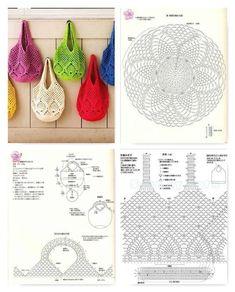 Free Crochet Bag Patterns 2016 Archives - Beautiful Crochet Patterns and Knitting Patterns - Her Crochet Filet Crochet, Free Crochet Bag, Crochet Market Bag, Crochet Pouch, Crochet Cross, Crochet Diagram, Crotchet Bags, Knitted Bags, Crochet Handbags