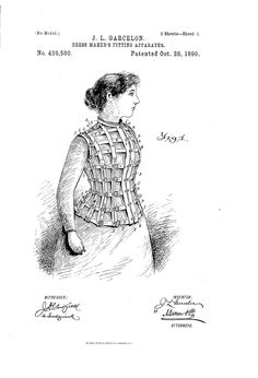 1890 Patent US439500 - DRESS-MAKER S FITTING APPARATUS - Google Patents