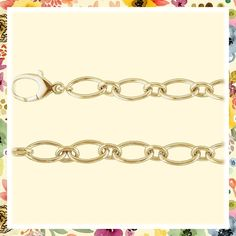 (This is an affiliate pin) Oval Link Bracelet in 14kt Yellow Gold Link Bracelets, Yellow, Gold, Jewelry, Fashion, Moda, Jewlery, Jewerly, Fashion Styles