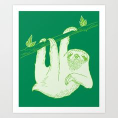Sloth! Art Print by Andrew Henry - $20.00