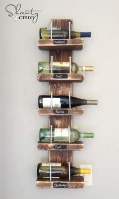 Simple wine rack - Decorative Rustic Storage Projects For a Beautifully Organized Home