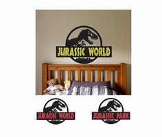 Jurassic World Bedding Bedroom Decorating Ideas Pinterest - 3d dinosaur wall decalsd dinosaur wall stickers for kids bedrooms jurassic world wall