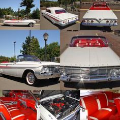 1961 Chevrolet Impala Convertible. Spectacular body-off restoration! Show car quality in, out & under with no disappointments. Powered by a 283 V8 with Powerglide transmission. Power steering, Power brakes and Power Top. The White paint with the Red interior is such a gorgeous color combination! Wide whites, Spinner hubcaps, and SS badge work added by the previous owner for show. Runs and drives outstanding!Price$61,400