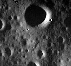 This image obtained from NASA on April 30, 2015 shows the surface of Mercury in one of the last images taken by the MESSENGER sp