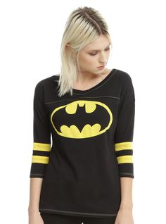 Shop for the latest superheroes, pop culture merchandise, gifts & collectibles at Hot Topic! From superheroes to tees, figures & more, Hot Topic is your one-stop-shop for must-have music & pop culture-inspired merch. Batman Logo, Batman Vs Superman, Emo Fashion, Fashion Wear, Batman Show, Batman Gifts, Athletic Fashion, Athletic Style, Super Hero Costumes