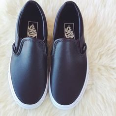 Vans Oxblood Leather Slip Ons •The Leather Classic Slip-On features a low profile slip-on leather upper, padded collar and heel counters, elastic side accents, and signature waffle outsoles.   •Women's size 6.5. True to size.  •New in box with tags attached.  •NO TRADES/PAYPAL/MERC/VINTED/NONSENSE.  •PLEASE USE OFFER FEATURE IF YOU WANT TO NEGOTIATE PRICE. Vans Shoes Sneakers