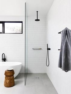 Bathroom Renos, Laundry In Bathroom, Master Bathroom, Bathroom Cabinets, Bathroom Remodeling, Dyi Bathroom, Shower Bathroom, Bathroom Goals, Glass Bathroom
