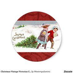Christmas Vintage Victorian Children Stickers