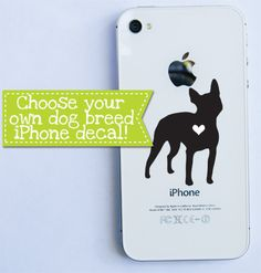 Dog Breed Love iPhone decal by BullyPaws on Etsy, $6.00