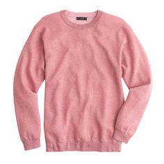 J.Crew women's sparkle crewneck sweater in pink mauve.