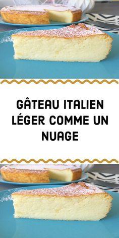 Light Italian cake like a cloud - # like # Italian cake # light # cloud - Maressa Muttock Desserts With Biscuits, Italian Pastries, Italian Cake, Crepe Recipes, Diy Food, Vanilla Cake, Food Inspiration, Italian Recipes, Food And Drink