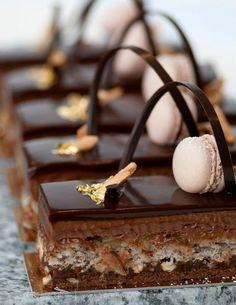 Chocolat et macaron