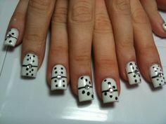 diseño de domino en uñas - Buscar con Google