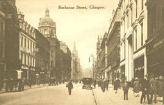 Buchanan St, Glasgow. This is now a lovely pedestrian only street with many designer shops.