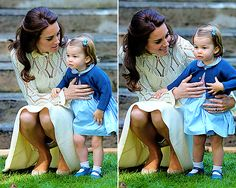 The Duchess of Cambridge and Princess Charlotte at a children's party for military families in Carcross, Canada, September 29th 2016.