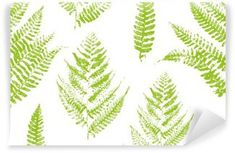 Seamless pattern with paint prints of fern leaves Self-Adhesive Wall Mural Ferns, Wall Murals, Scandinavian, Adhesive, Surface, Leaves, Stickers, Interior Design, Bedroom