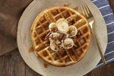 Belgian-Style Yeast Waffles Recipe, with salt + 1 baking powder see notes Waffle Recipes, Pancakes And Waffles, Sourdough Pancakes, Waffle Ice Cream, Waffle Iron, Waffle Mix, Waffel Vegan, Breakfast, Pancake
